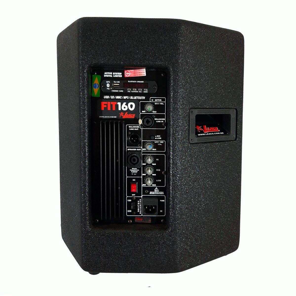 Caixa De Som Ativa Leacs Fit160A Bluetooth 150W Falante 10