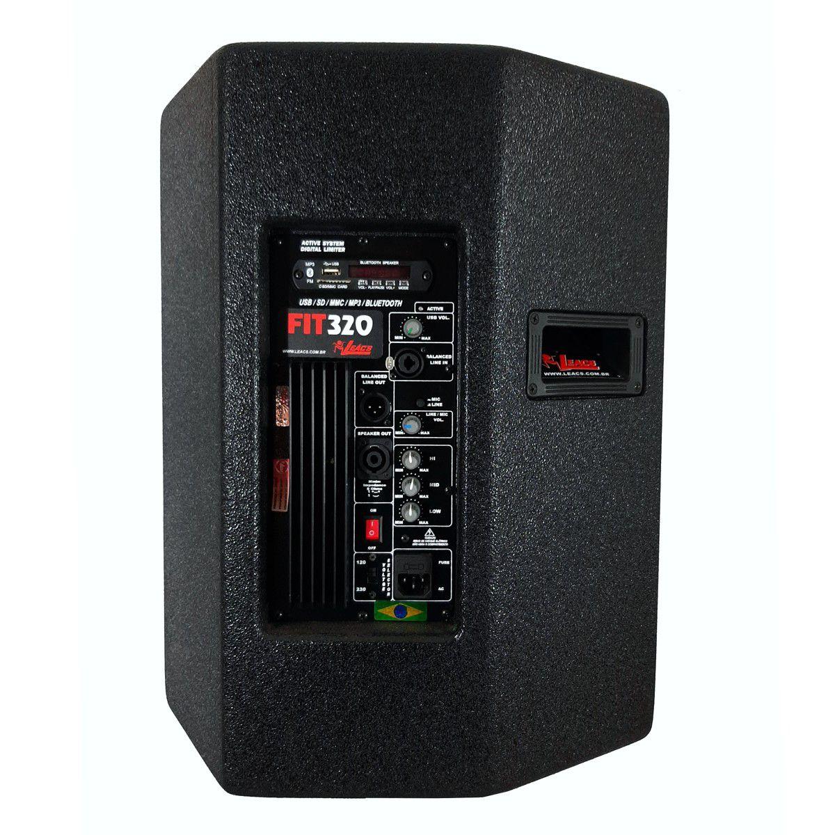 Caixa De Som Ativa Leacs Fit320A Bluetooth 250W Falante 12