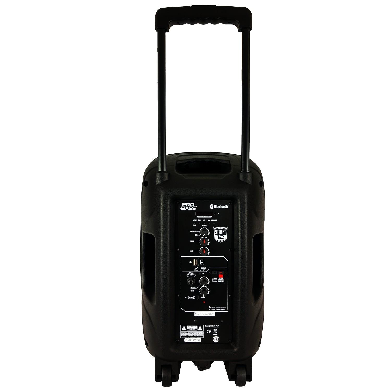 Caixa De Som Ativa Pro Bass Street 12 Bluetooth 100w Rms Com Bateria