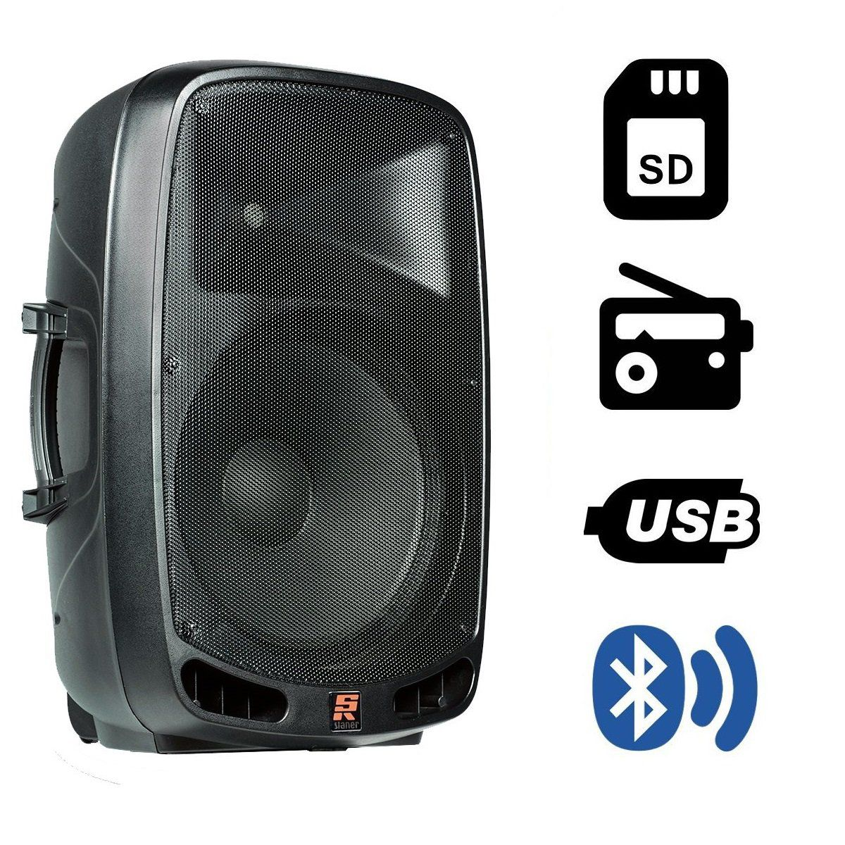 Caixa De Som Ativa Staner Bluetooth Ps1501 200W + Tripé