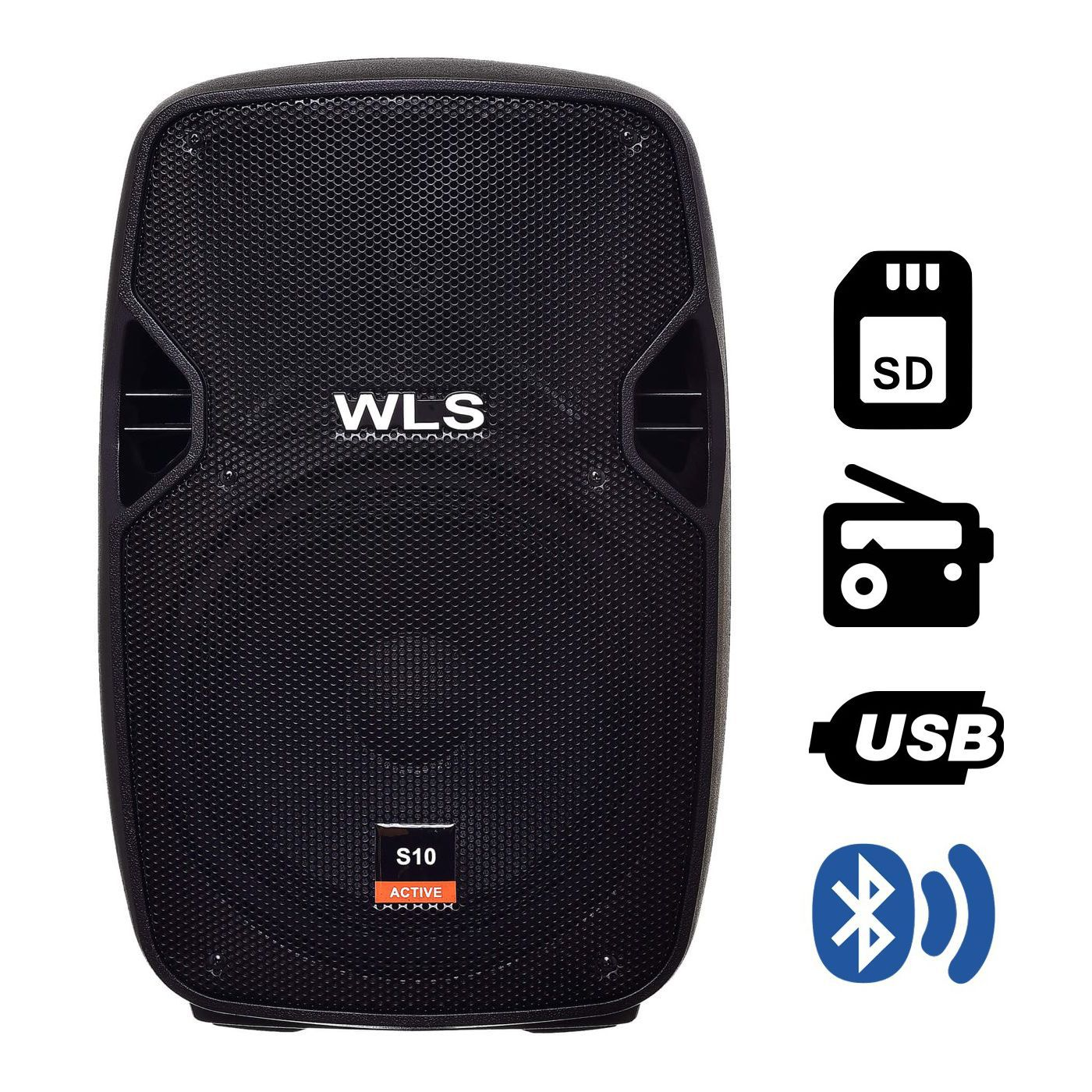 Caixa De Som Ativa Wls S10 Bluetooth 150W Rms
