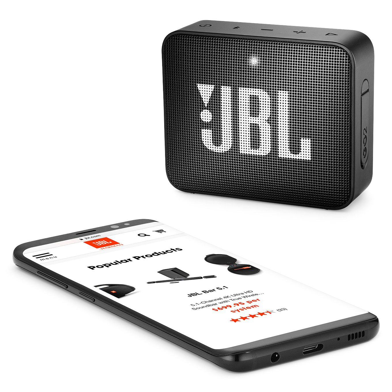 Caixa De Som Jbl Go2 Portátil Bluetooth Blk