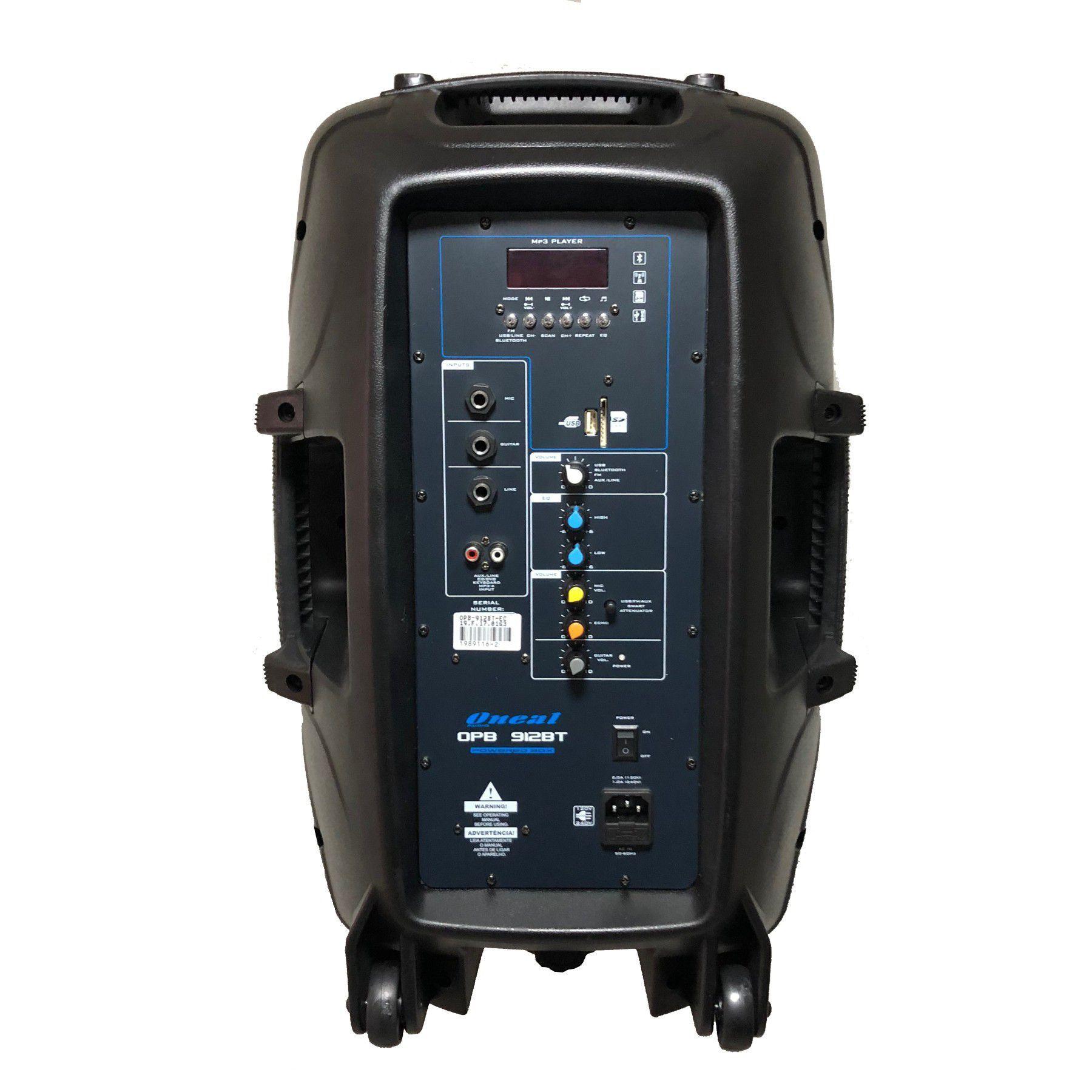 Caixa De Som Oneal Ativa Opb912 Bt Bluetooth 360W + Tripé