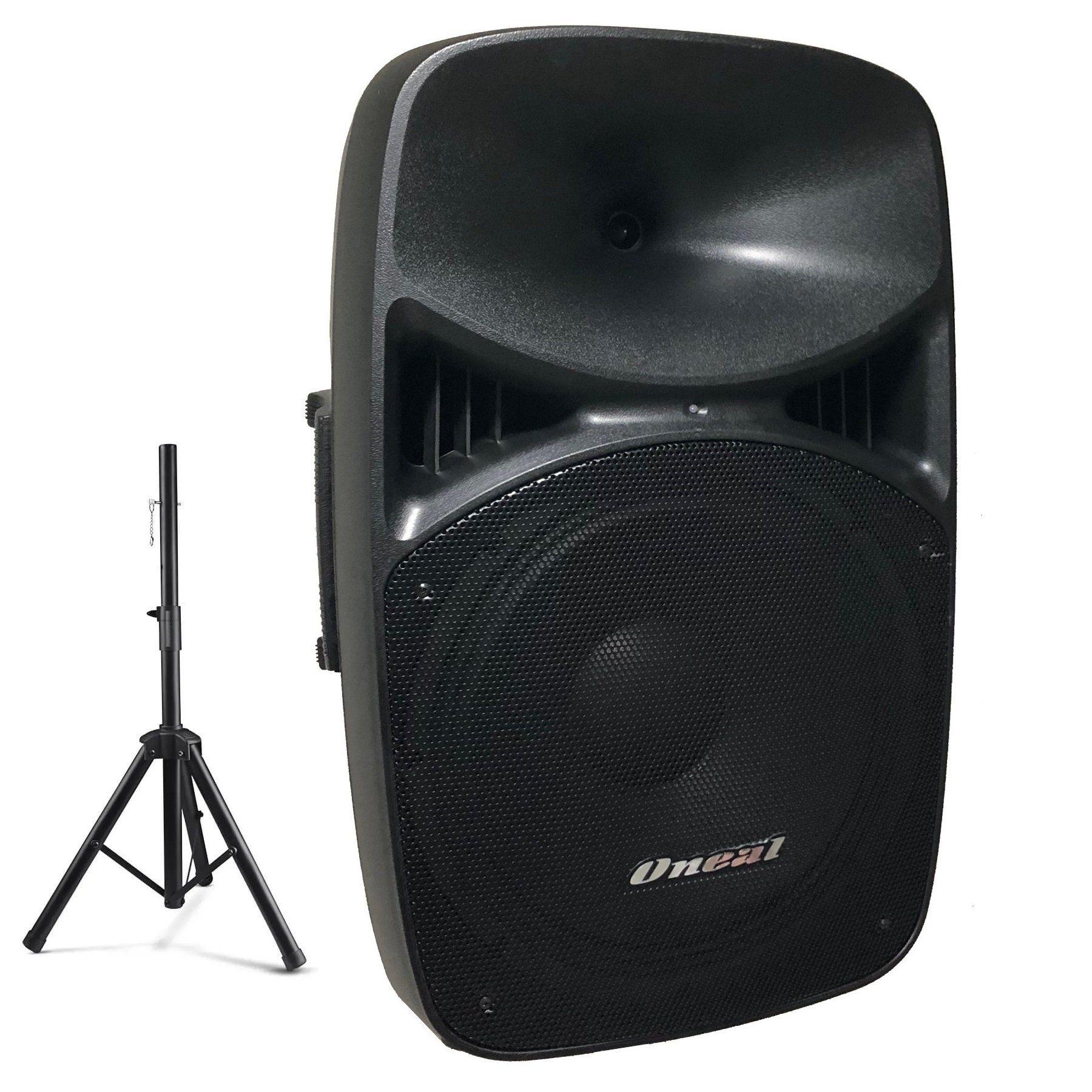 Caixa De Som Oneal Ativa Opb915 Bt Bluetooth 360W + Tripé