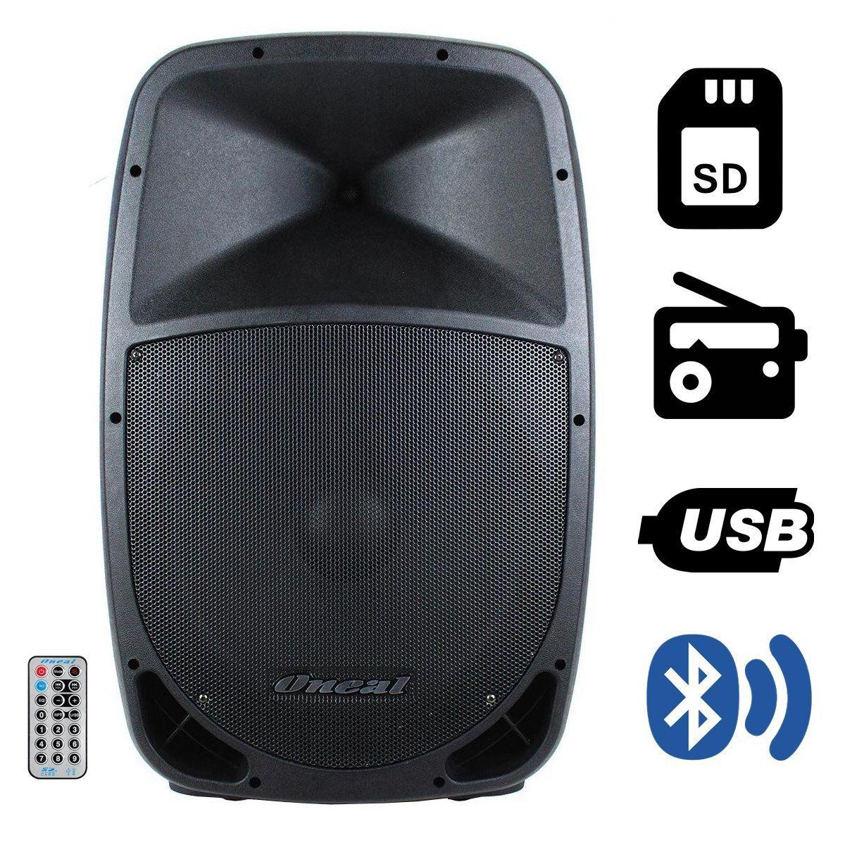Caixa Oneal Ativa Opb1115 Pt Bluetooth 220W