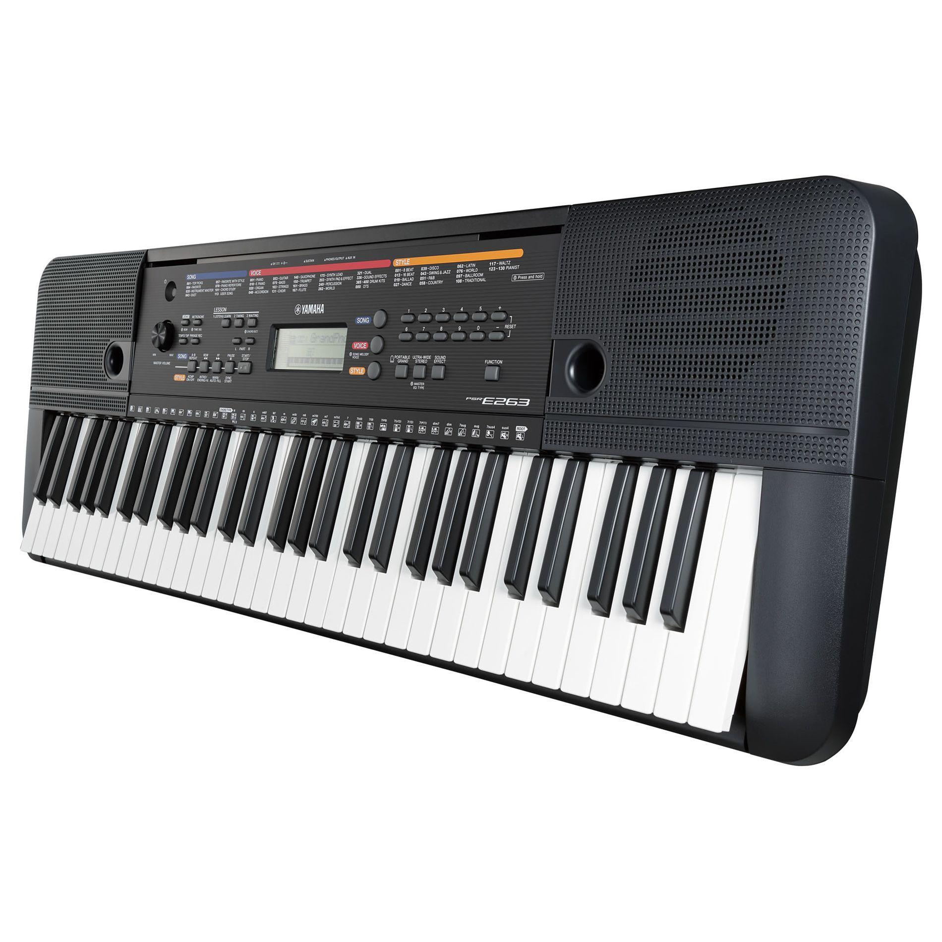 Kit Teclado Musical Yamaha Psr E263 + Suporte Capa