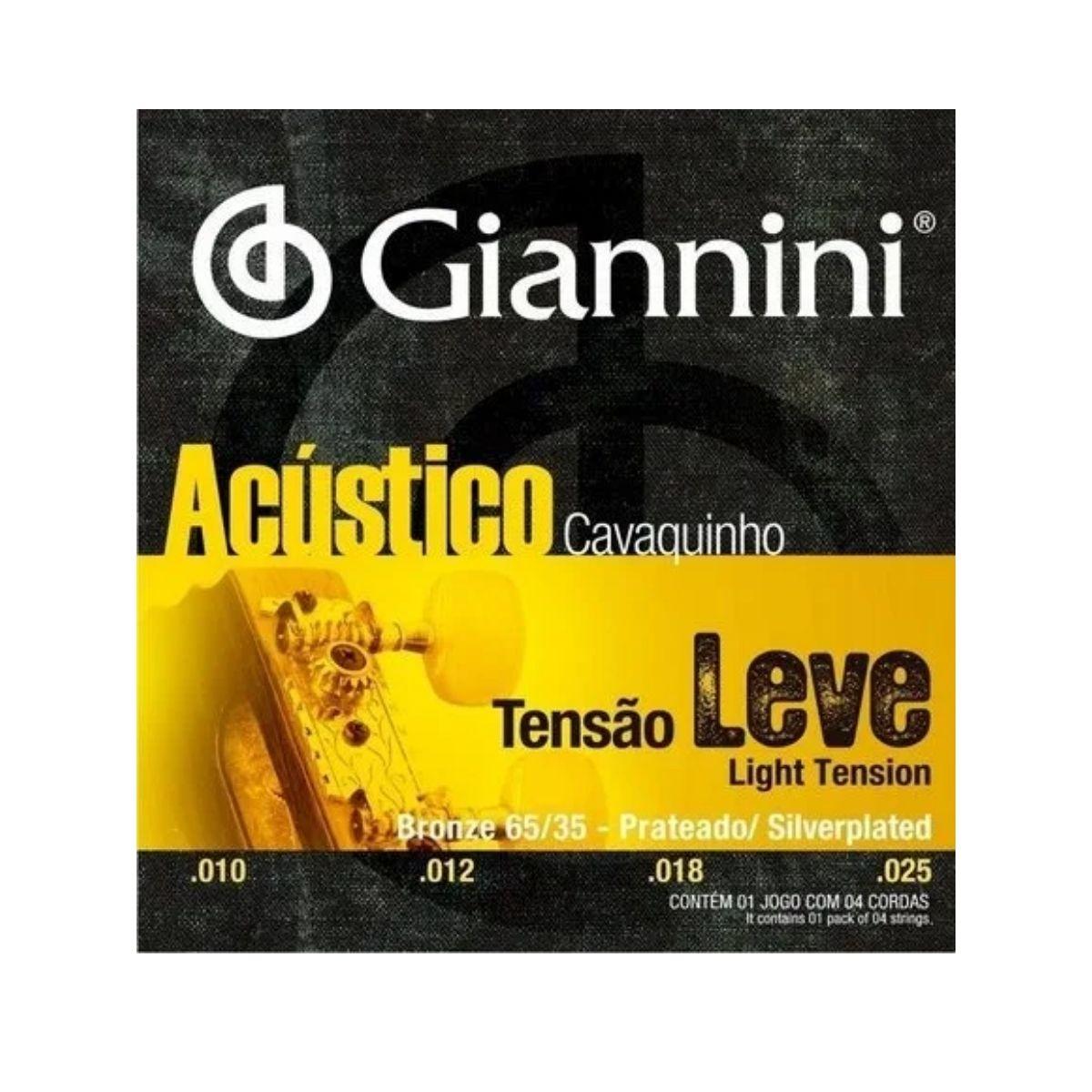 Encordoamento Cavaco Giannini Bronze 65/35 Gescla .010 .025