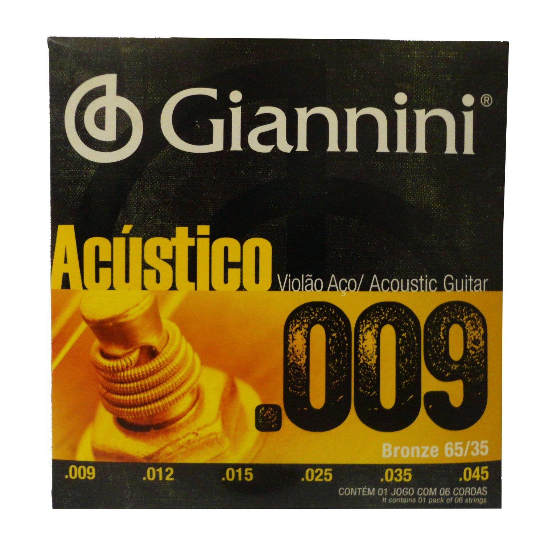 Encordoamento Giannini Violao Bronze Geswal 009