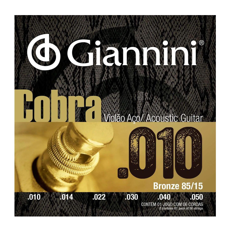 Encordoamento Violao Aco Giannini Cobra Geefle 0.10