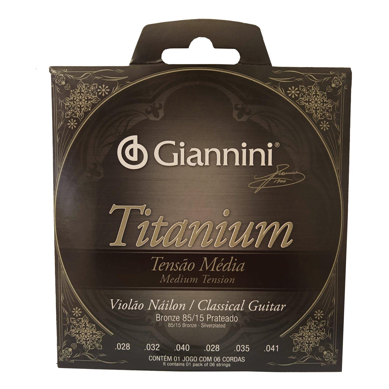 Encordoamento Violão Nylon Giannini Titanium Genwtm Média