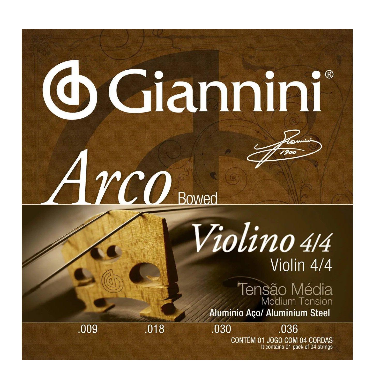 Encordoamento Violino Arco 4/4 Giannini Geavva