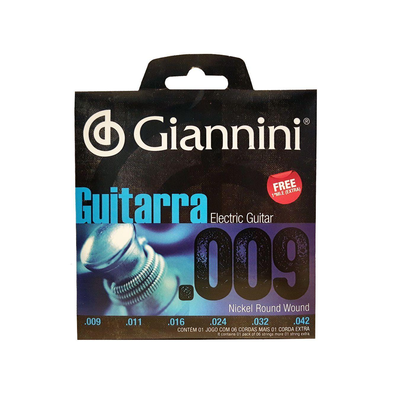 Encordoamento Guitarra Giannini Geegst9 0.09