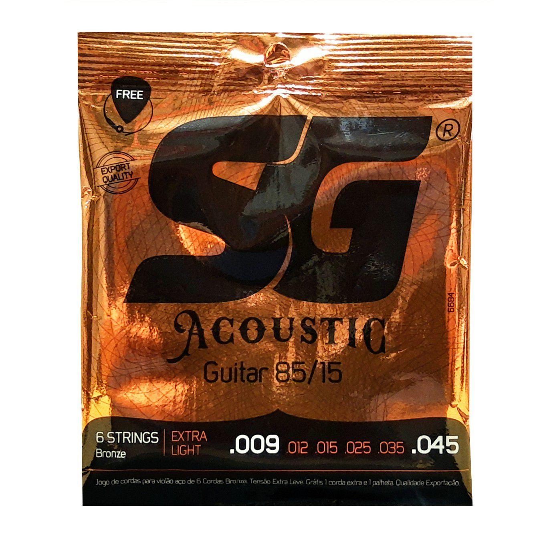 Encordoamento Violao Aco Sg Bronze 85/15 0.09