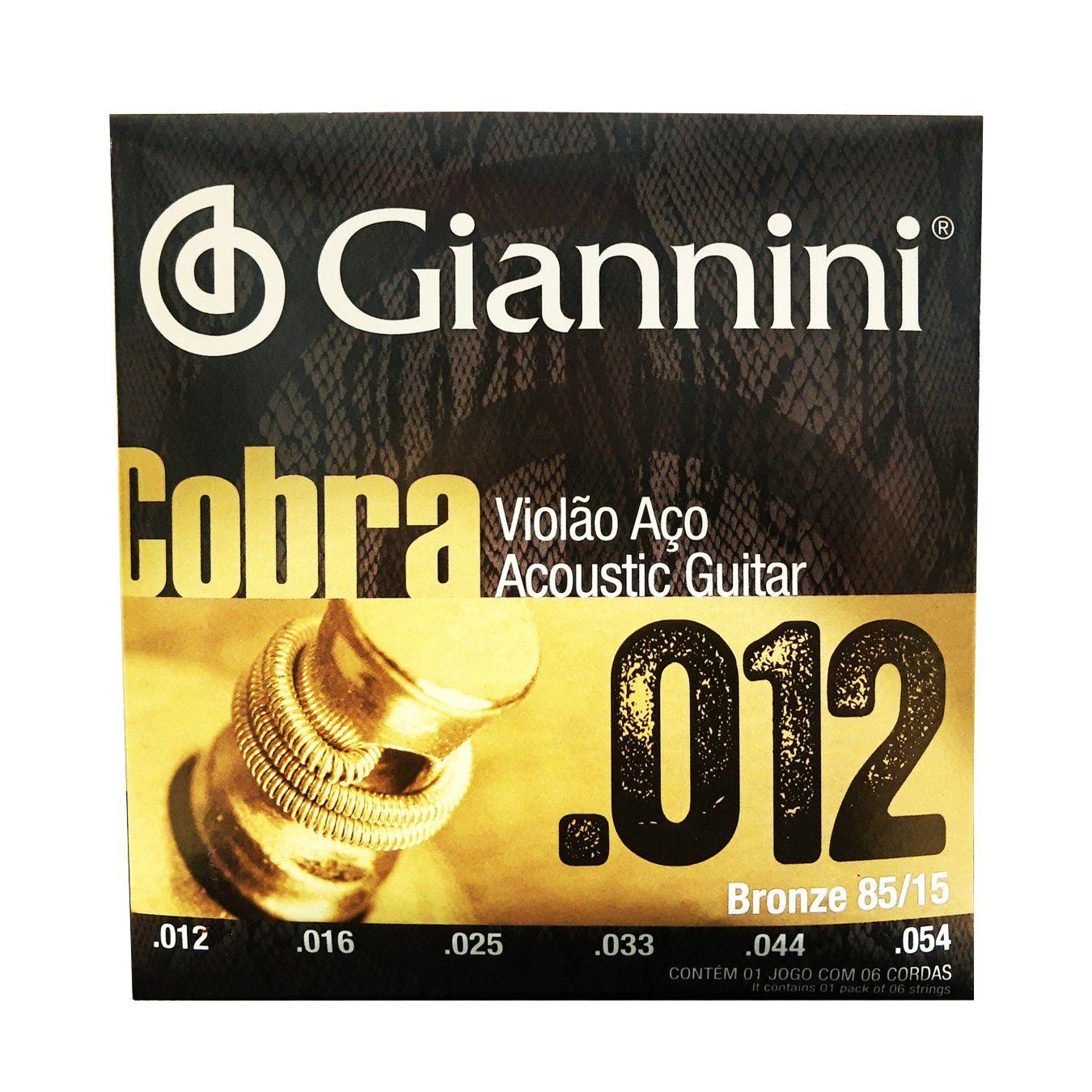 Encordoamento Violao Aco Giannini Cobra Geeflks 0.12