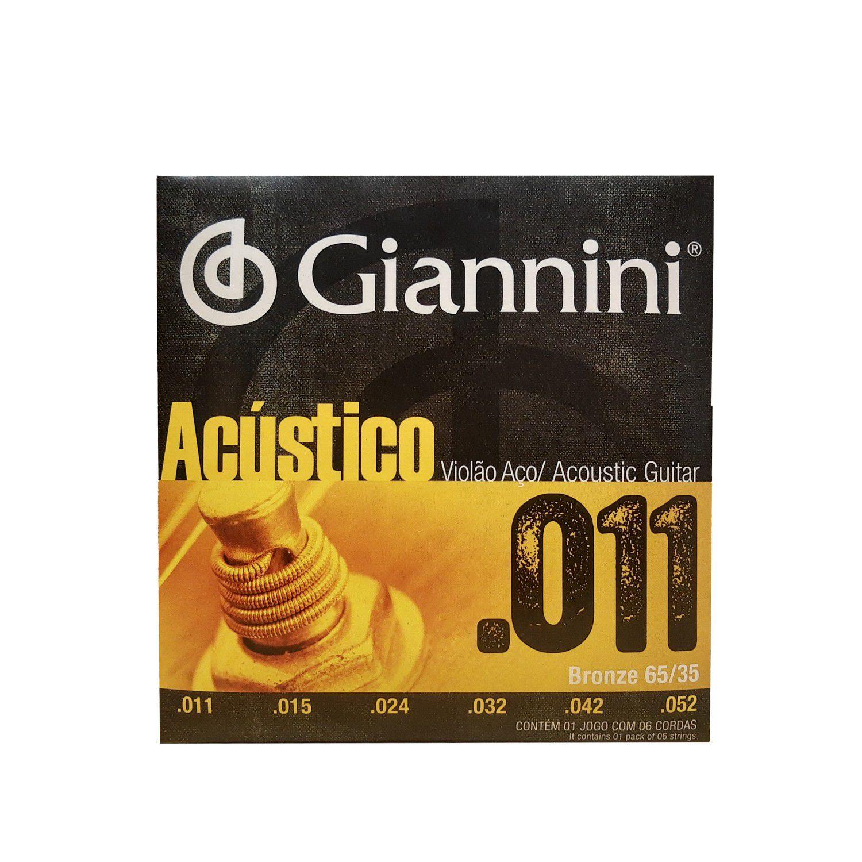 Encordoamento Viola Aco Giannini Bronze Gespw 0.11