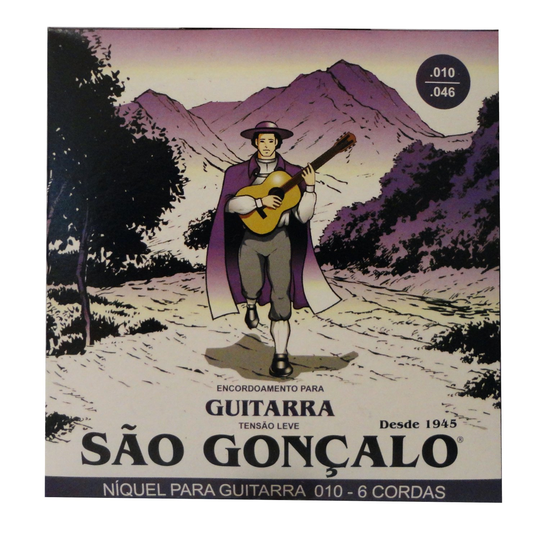 Encordoamento São Gonçalo Guitarra Niquel 010