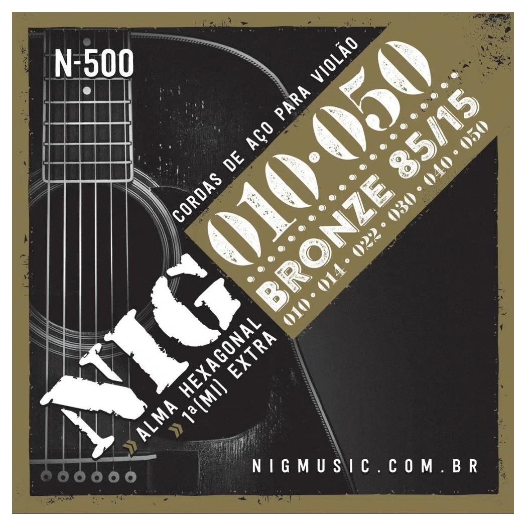 Encordoamento Violao Aço Bronze Nig N-500 0.10