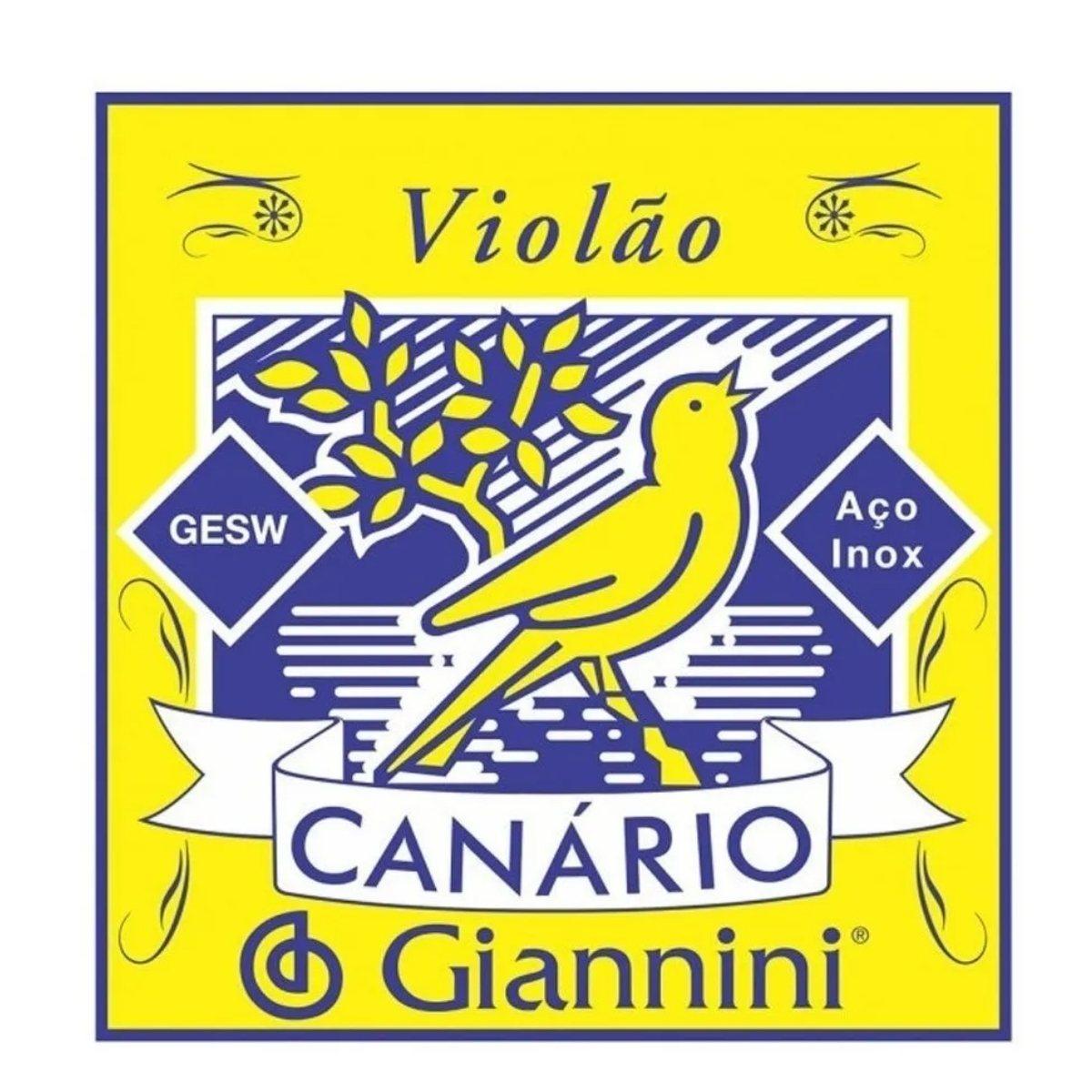 Encordoamento Violão Aço Giannini Canario Gesw