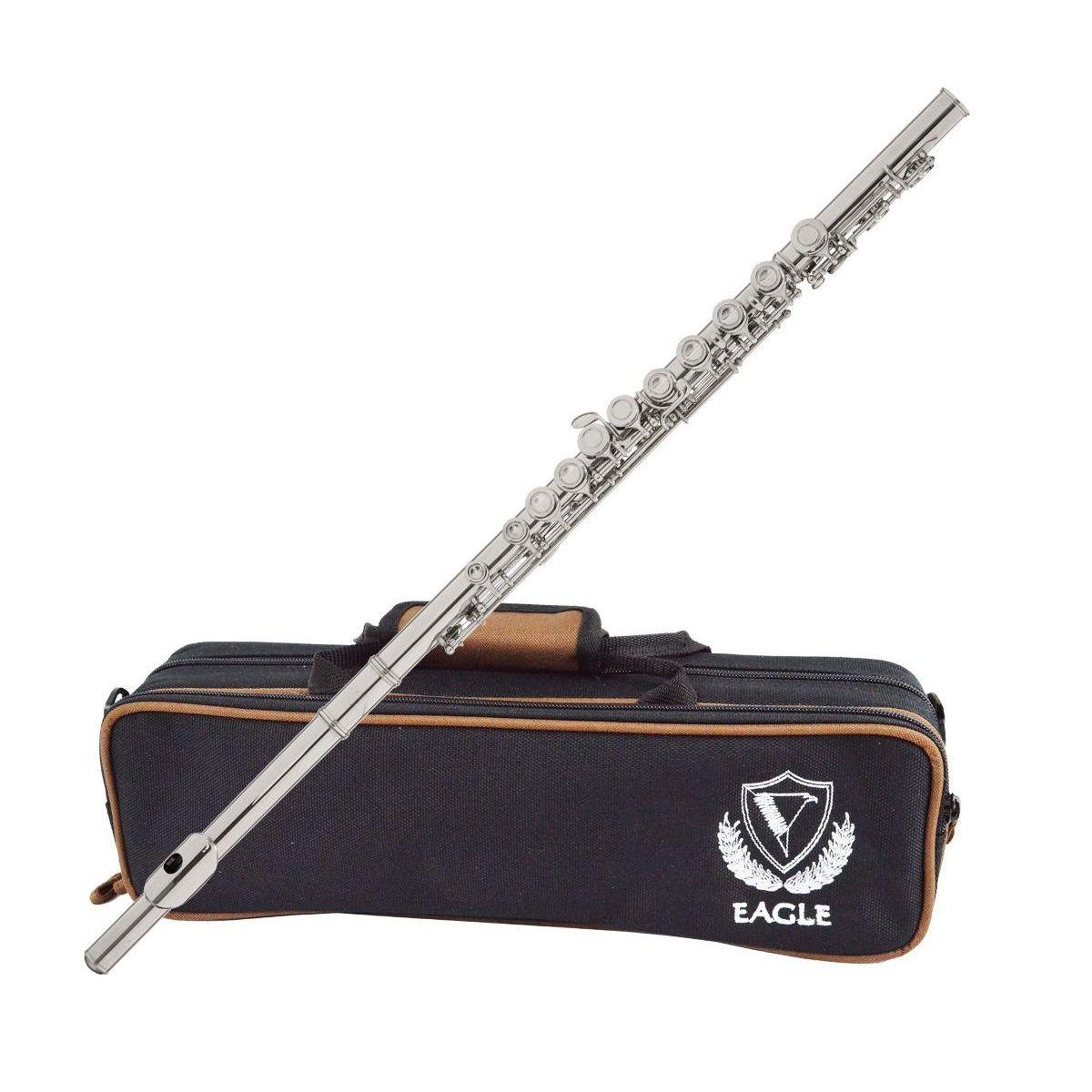 Flauta Transversal Eagle Fl03S Em Do Prateada