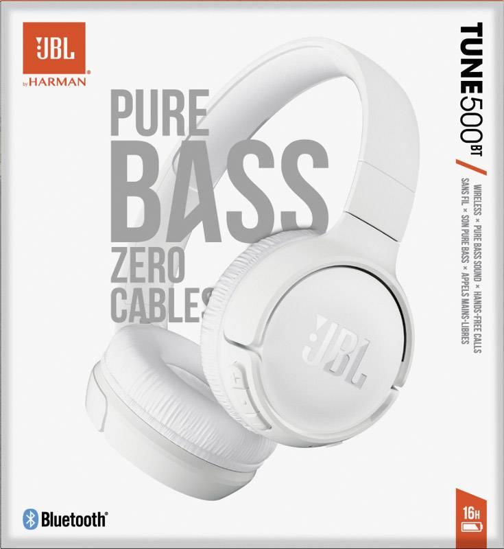 Fone De Ouvido Jbl T500bt Wht Bluetooth On Ear