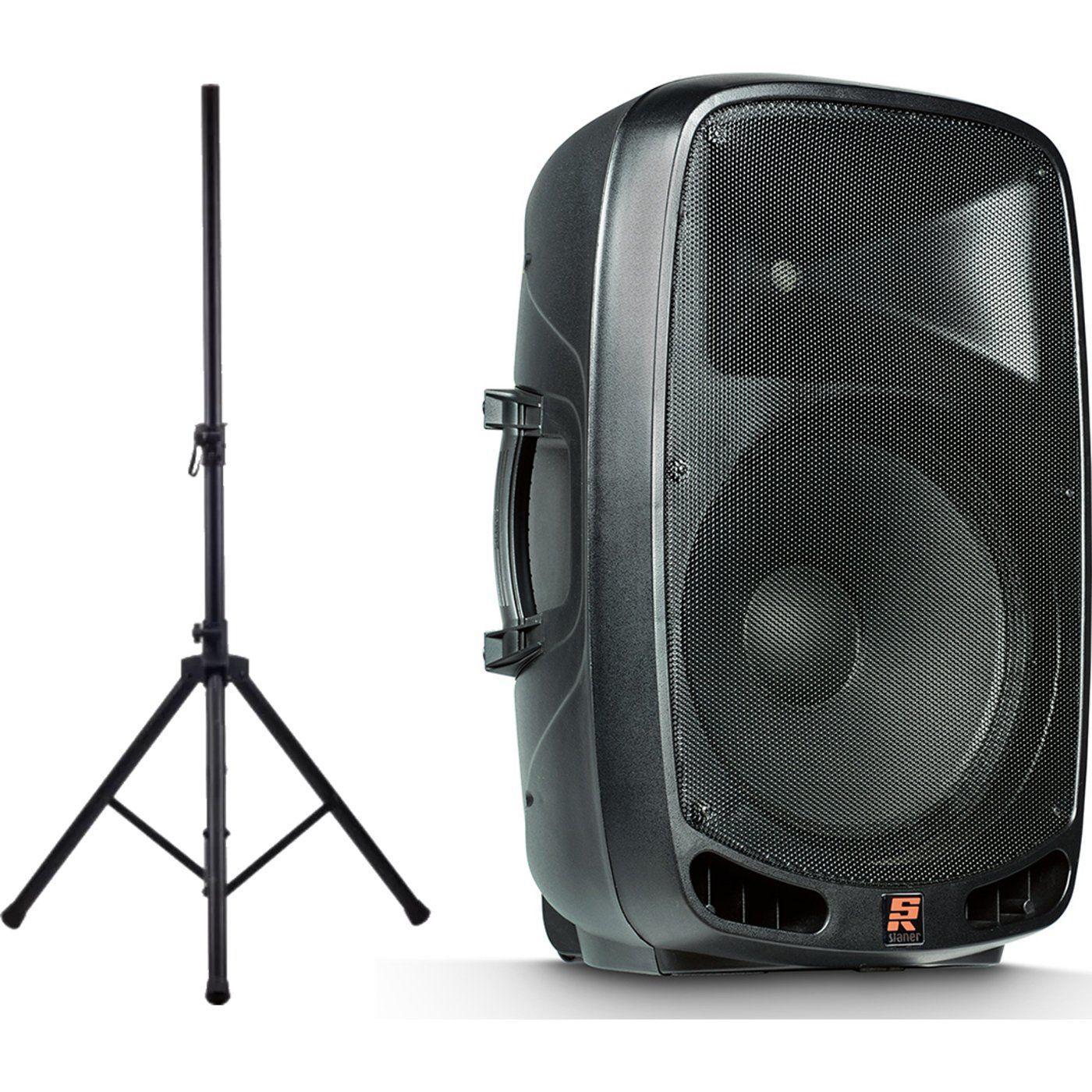 Kit 2 Caixa De Som Ativa 15 Staner Ps1501 400w + Tripé