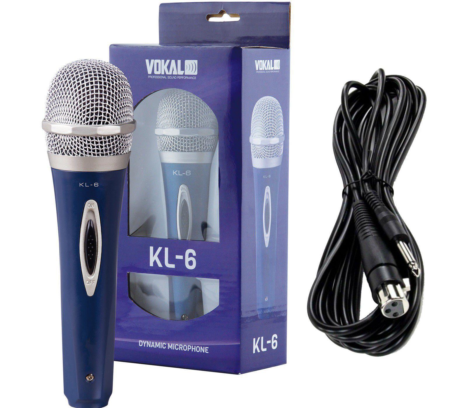 Kit 5 Microfone Profissional Com Fio Vokal Kl6