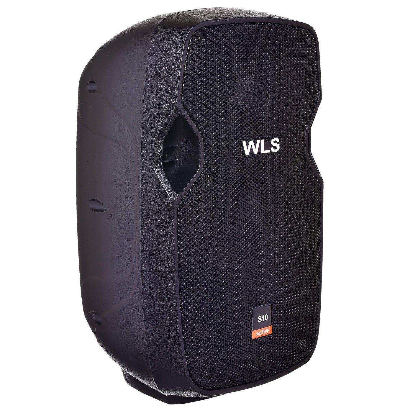 Kit Caixa de Som Ativa Passiva Wls S10 Bluetooth 250w + Suporte e Cabo