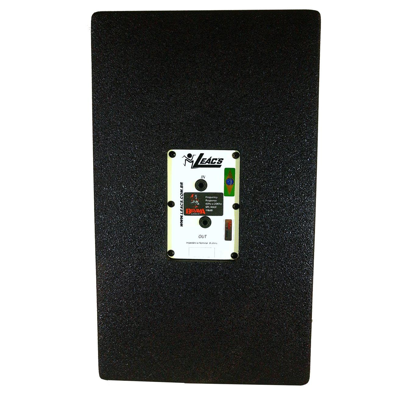 Kit Caixa de Som Ativa Usb + Passiva 12 Leacs Brava 1200 400w Rms