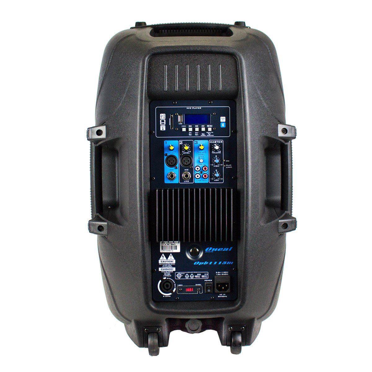 Kit Caixa De Som Oneal Ativa Passiva Opb1115 Ob1115 495w Rms + Suporte