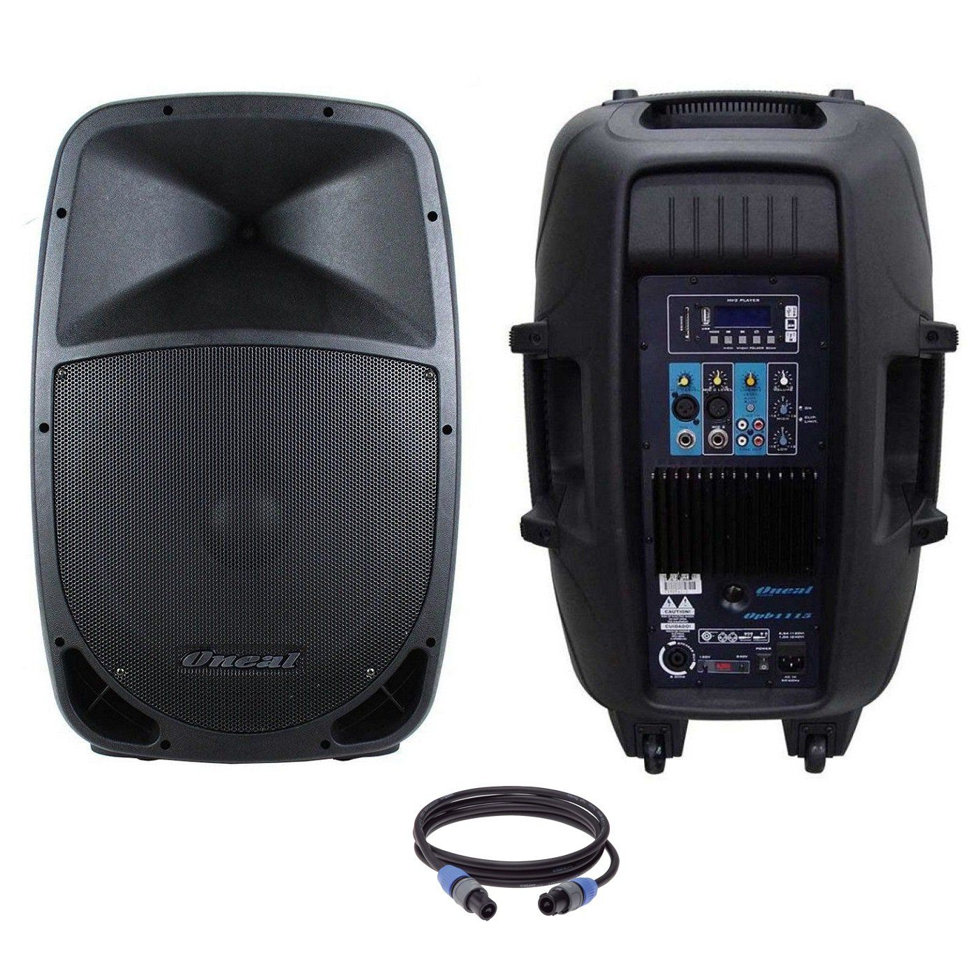 Kit Caixa De Som Oneal Bluetooth Ativa Passiva Opb1115 Ob1115 495w Rms