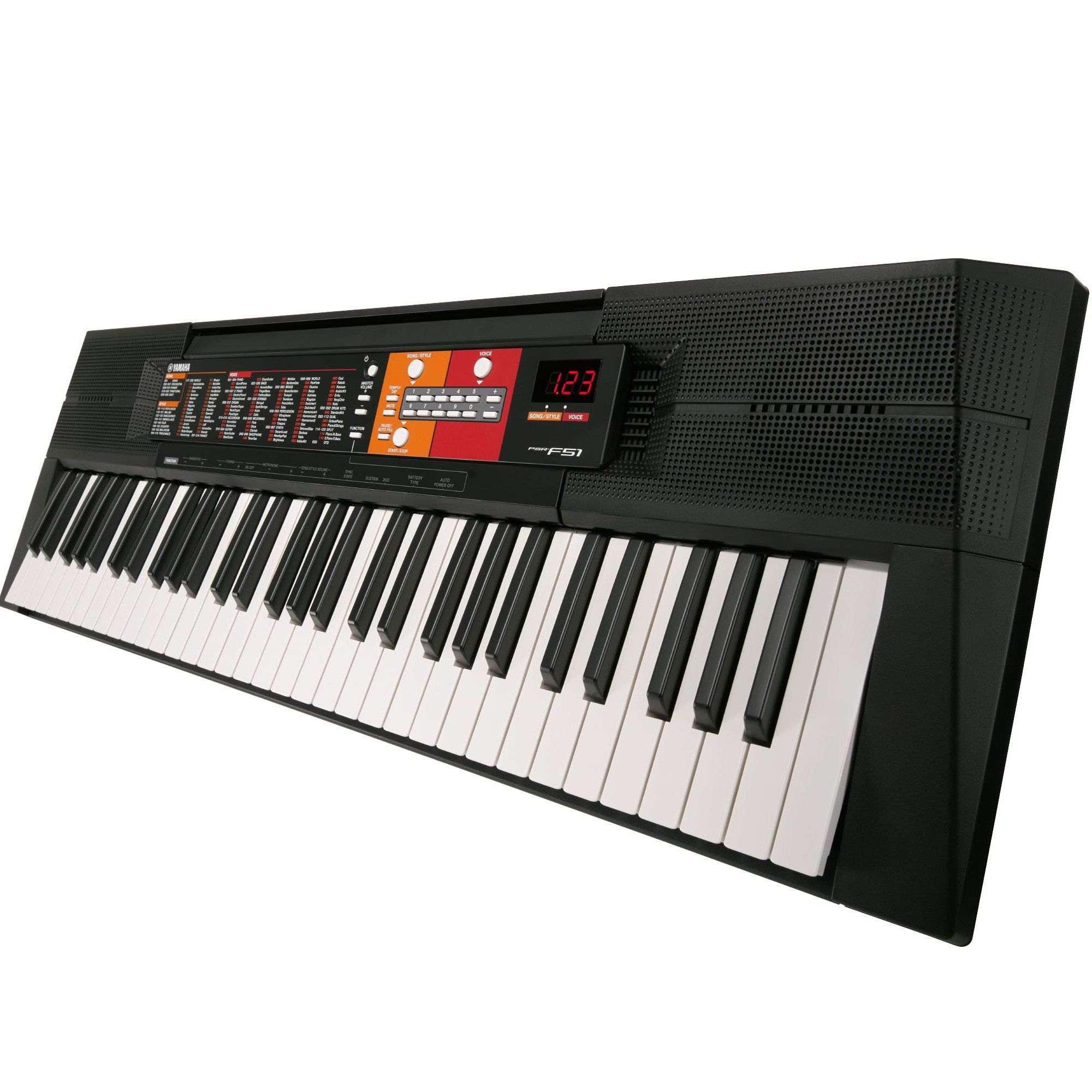 Kit Teclado Musical Yamaha Psr F51 + Suporte + Fonte