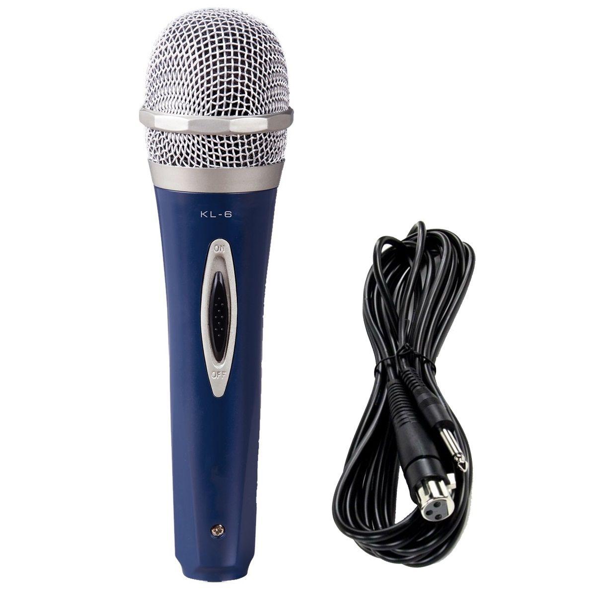 Microfone De Mão Com Fio Vokal Kl6