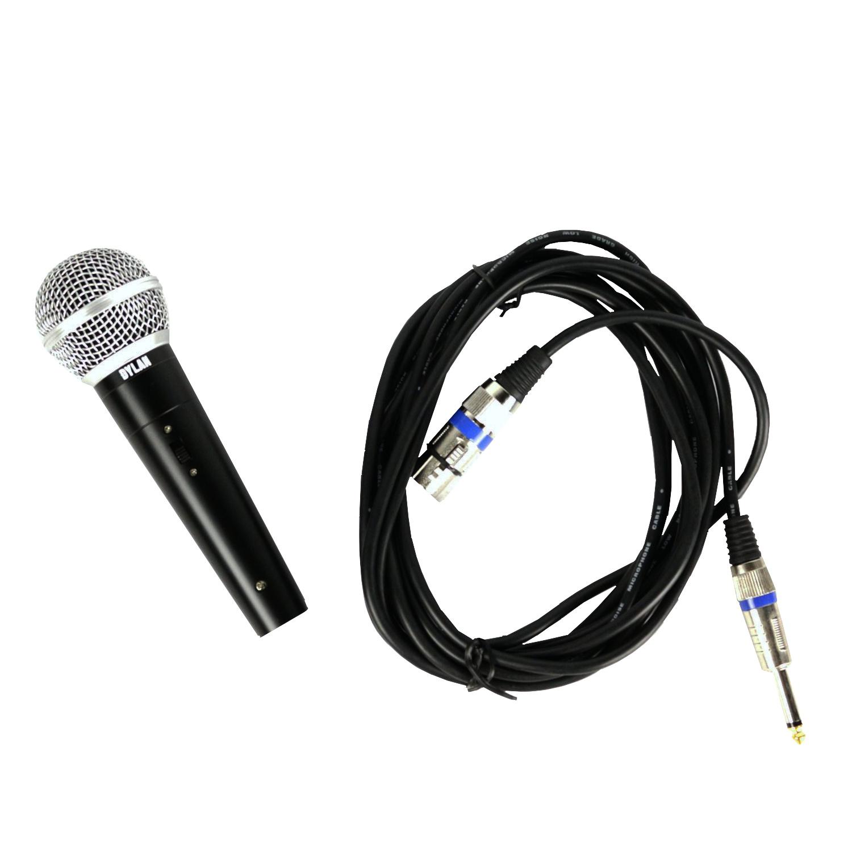 Microfone Dinâmico Com Fio Dylan Smd58 Plus