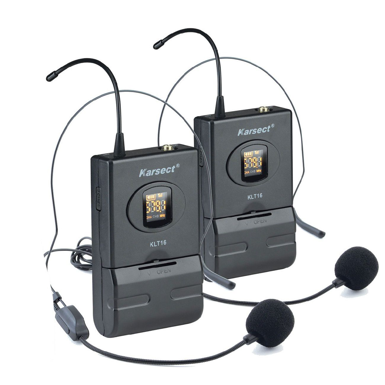 Microfone Karsect Sem Fio Krd200 Dh Uhf Duplo Headset