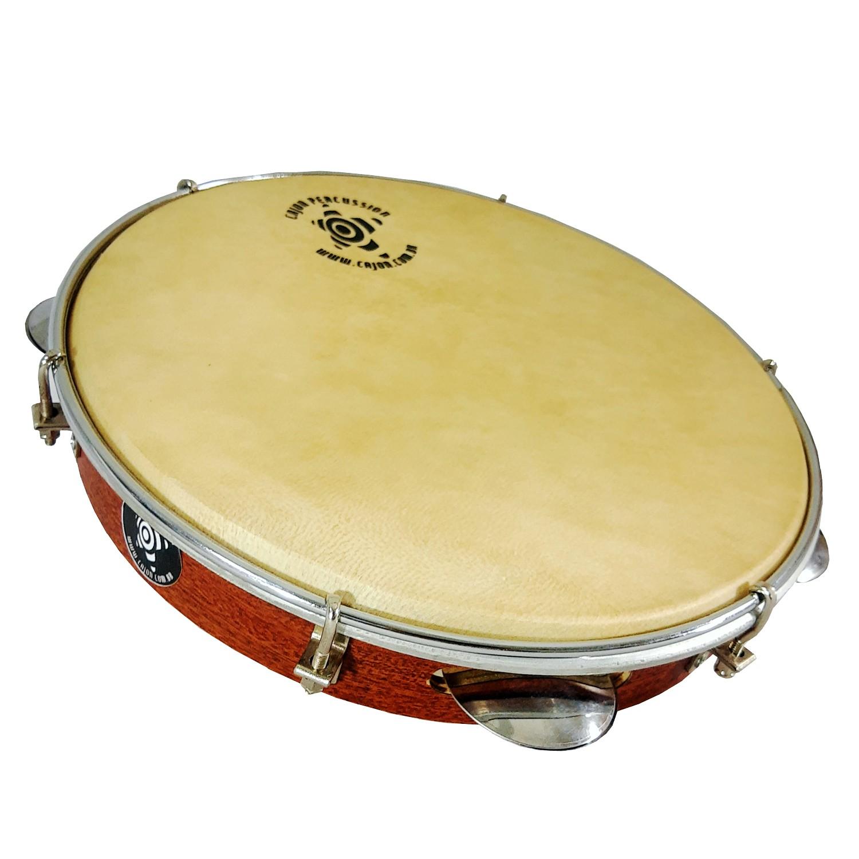 Pandeiro Cajon Percussion Pele De Couro 10