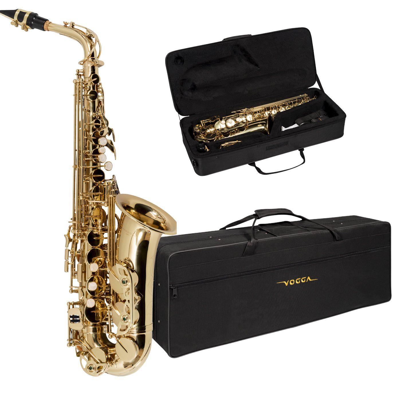Saxofone Alto Vogga Vsas701n Com Estojo Luxo