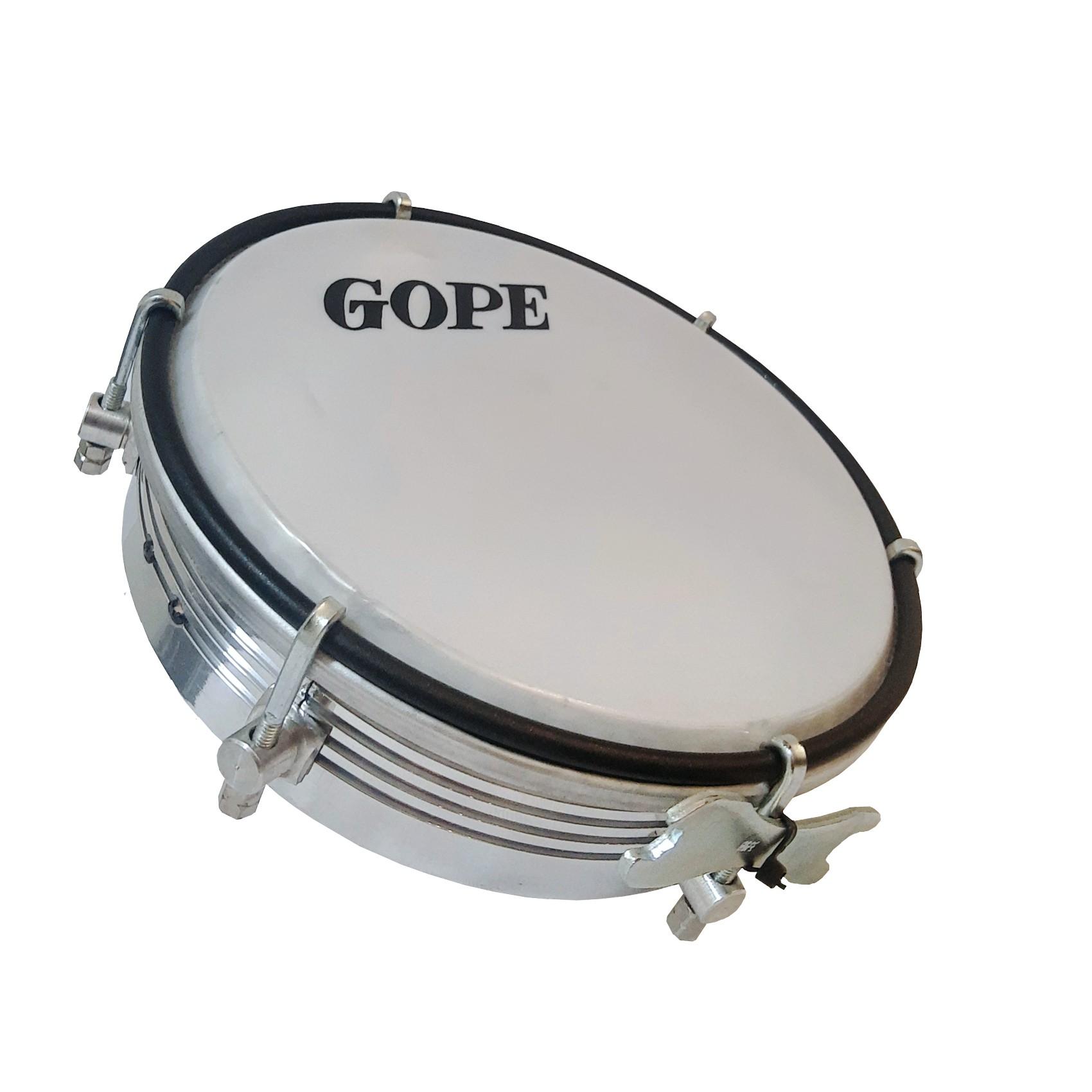 Tamborim Gope 595Al 6 Aluminio Frisado