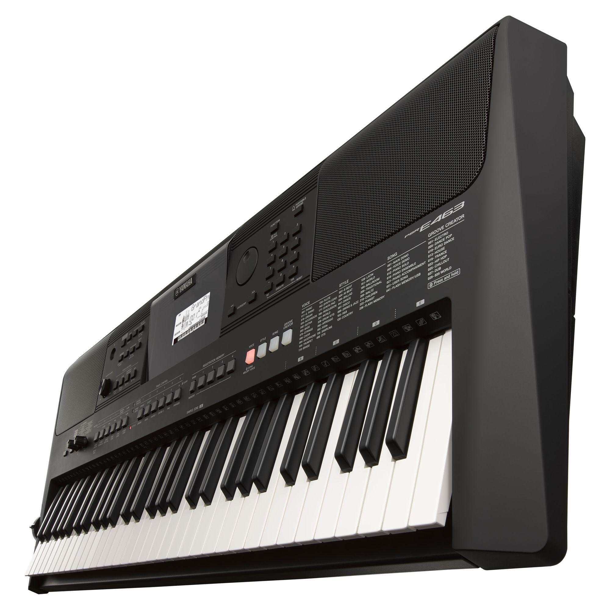 Kit Teclado Musical Yamaha Psr E463 + Capa Suporte