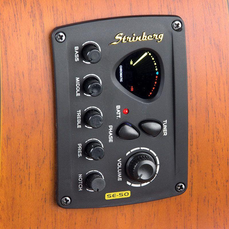 Violao Strinberg Eletrico Baby Folk Small Sr200 Ns