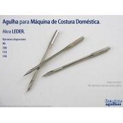 Promoção de Agulha Leder para máquina de costura doméstica. Agulha com Ponta de Lança para Couro e Similares. 4 numerações disponíveis!