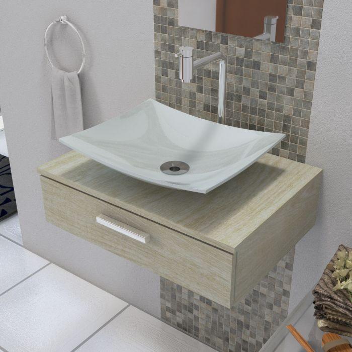 Cuba de Apoio Para Banheiro Modelo Folha Cinza