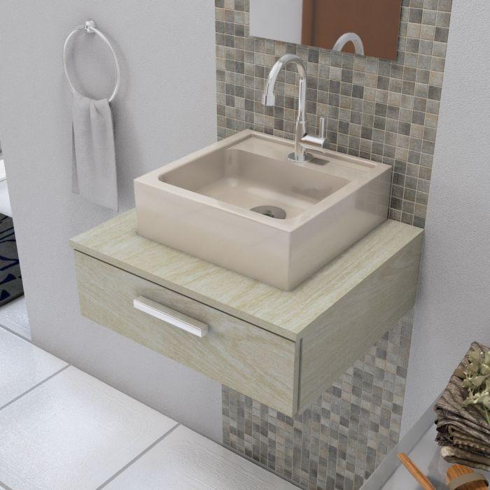 Cuba de Apoio para Banheiro Modelo Jully Bege