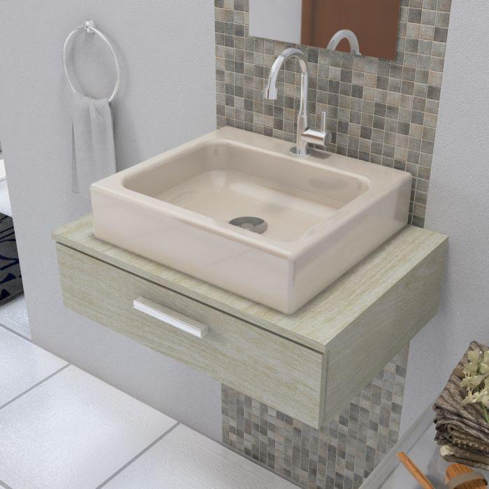 Cuba de Apoio para Banheiro  Modelo Nice Bege