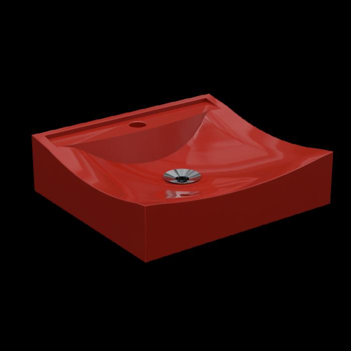 Cuba de Apoio Para Banheiro e Lavabo Modelo Romana Vermelho