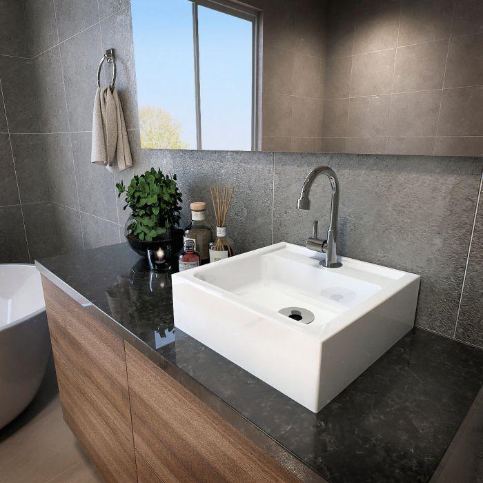 Cuba de Apoio para Banheiro  Modelo Jully Branco