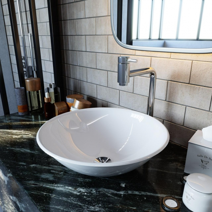 Cuba De Apoio Para Banheiro Redonda 35x35cm
