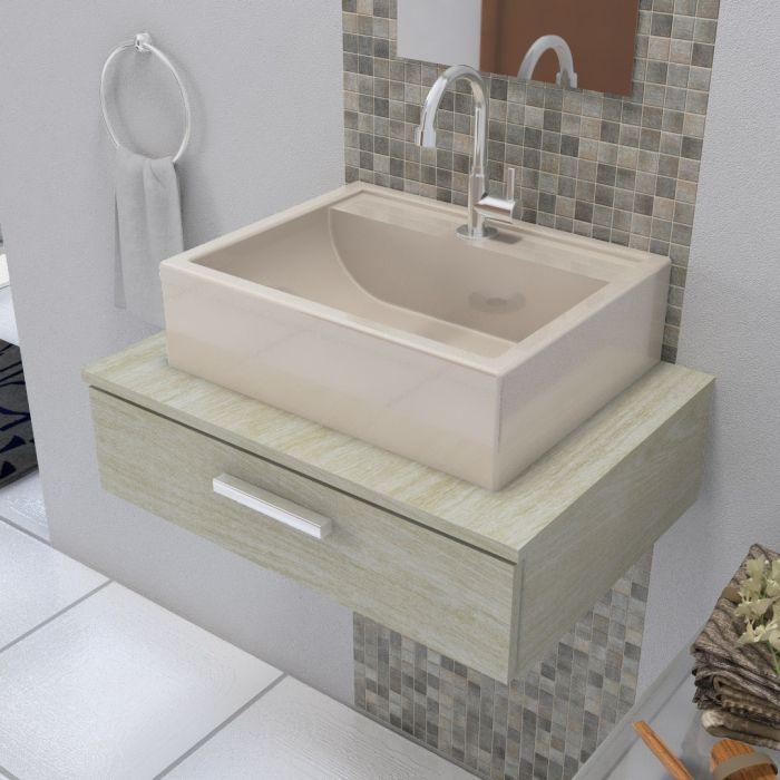 Cuba Pia de Apoio Para Banheiro Croy Jacuzzi 47 cm Bege