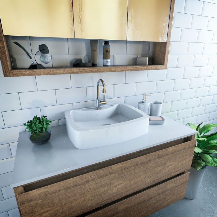 Cuba Pia de Apoio Para Banheiro e Lavabo Modelo Albani