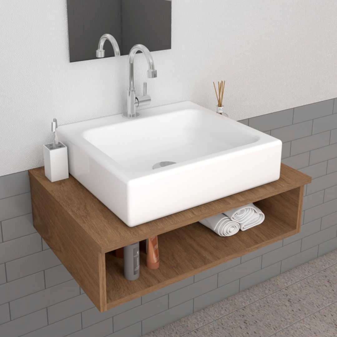 Cuba de Apoio para Banheiro Modelo Nice Branca