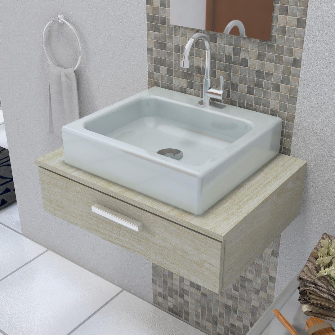 Cuba de Apoio para Banheiro Modelo Nice Cinza